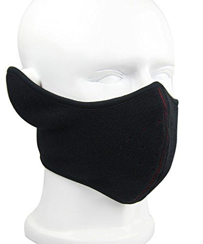 Men Women Half Cover Black Face Ski Mask Wind Resistant Winter Snow  Balaclava-Black 24689dbd4
