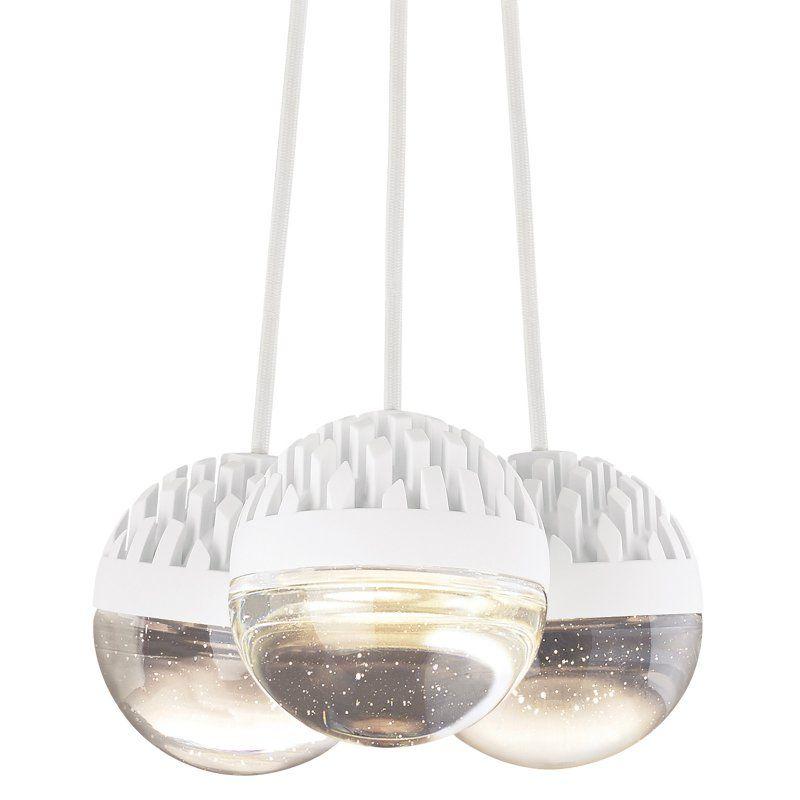 Lbl lighting sphere lp84903 3 light chandelier cast clear shade lp84903blcrledwd