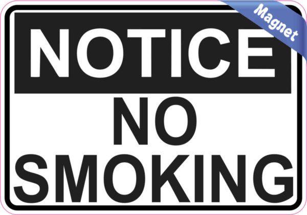 X notice no smoking sticker vinyl sign door wall signs stickers