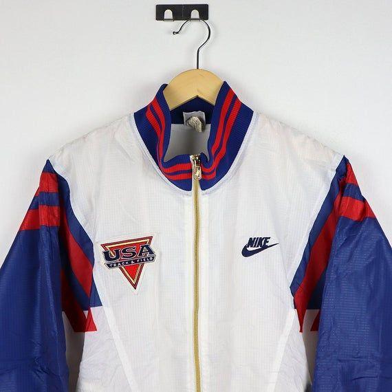 Nike Vintage 90s NIKE USA TEAM Windbreaker Vintage Jacket