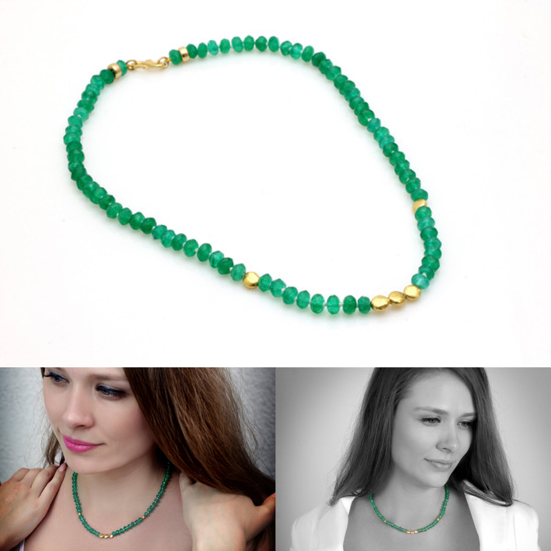 New Year green onyx necklace. #Xmas #newyear #handmade #necklace #jewellery #jewelry #handpickedclub @handpicked_club