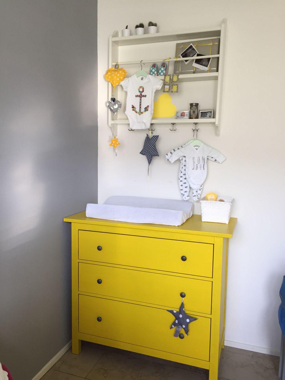 Yellow Nursery Gender Neutral Ikea Hemnes Stenstorp Grey White