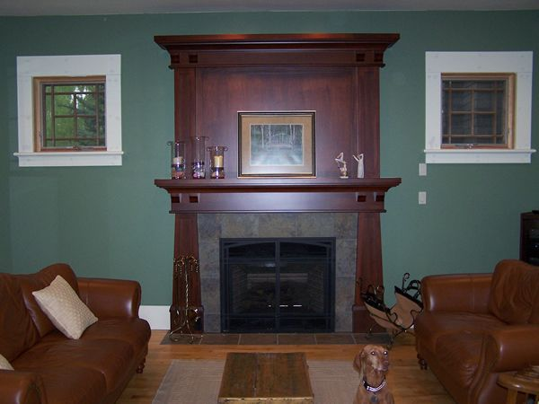 Mission style fireplace mantel cute decor ideas apartment for Craftsman style fireplace mantel plans