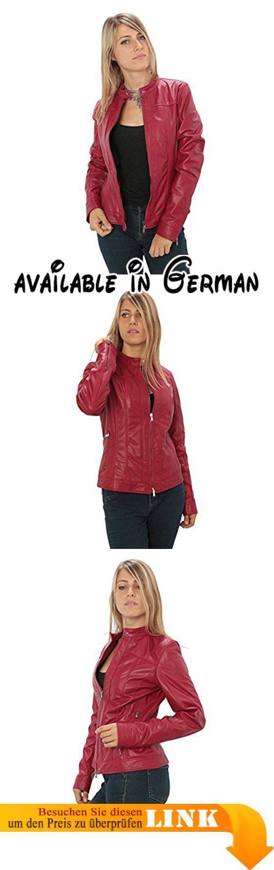 B074KLFJ2M : Frau echtes Leder-Jacke Biker-Stil Made in Italy. Lederjacke Made in Italy. Lederjacke in High Quality. Groß für Herbst-Frühling Jahreszeit. Tabellen misst Beschreibung. Ausgezeichnete Qualität-Preis-Verhältnis #Apparel #OUTERWEAR
