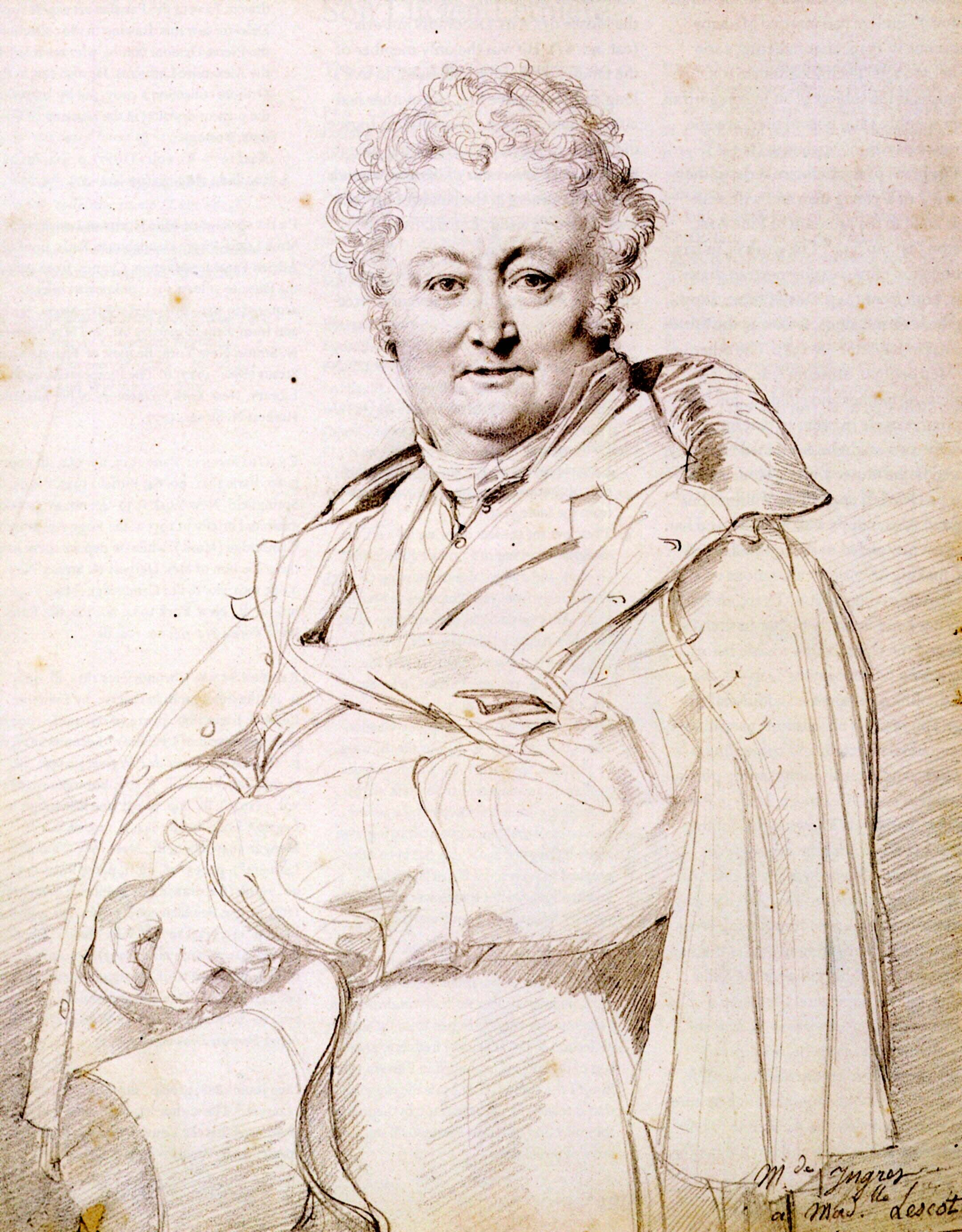 Portrait of Guillaume Guillon Lethiere - Drawing by Jean ...