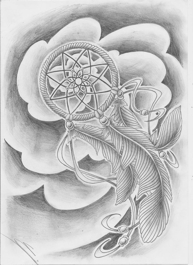 A Japanese Arm Tattoo Design With Some Flowers Waves And A Whirlwind Placed On The Shoulde Dream Catcher Tattoo Design Tattoo Designs Tattoo Design Drawings