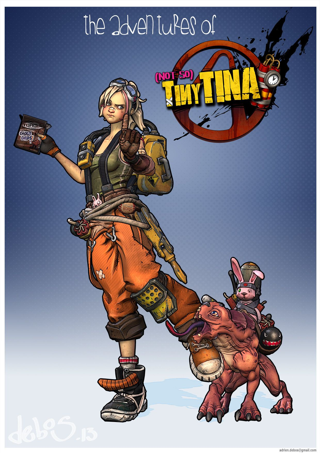 ArtStation - Not So Tiny Tina - Borderlands 2 Fan Art 2013