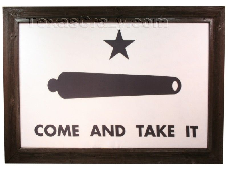 Buy Gonzales Come And Take It Texas Battle Flag Framed Large Framed Texas Flags Framed Flag Come And Take It Gonzales Flag