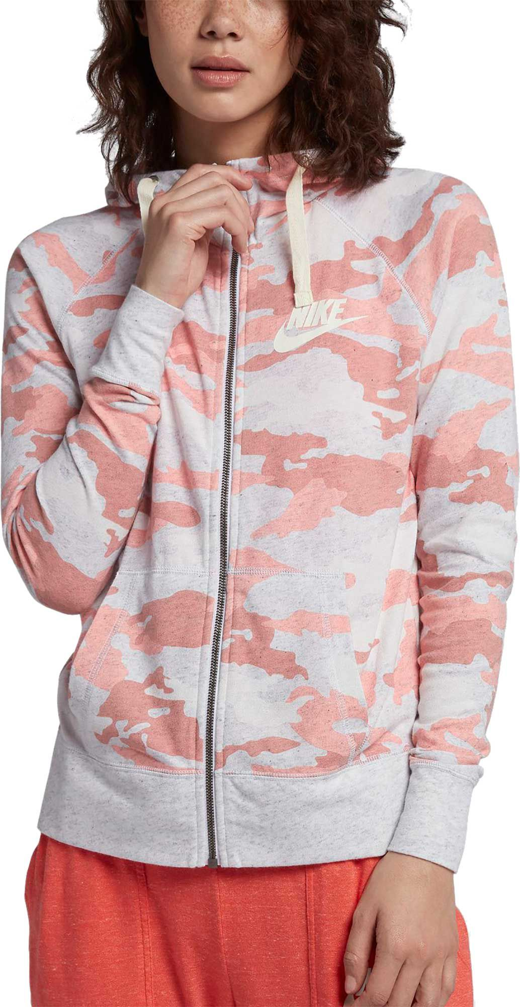 Nike Women's Sportswear Gym Vintage Camo Full Zip Hoodie