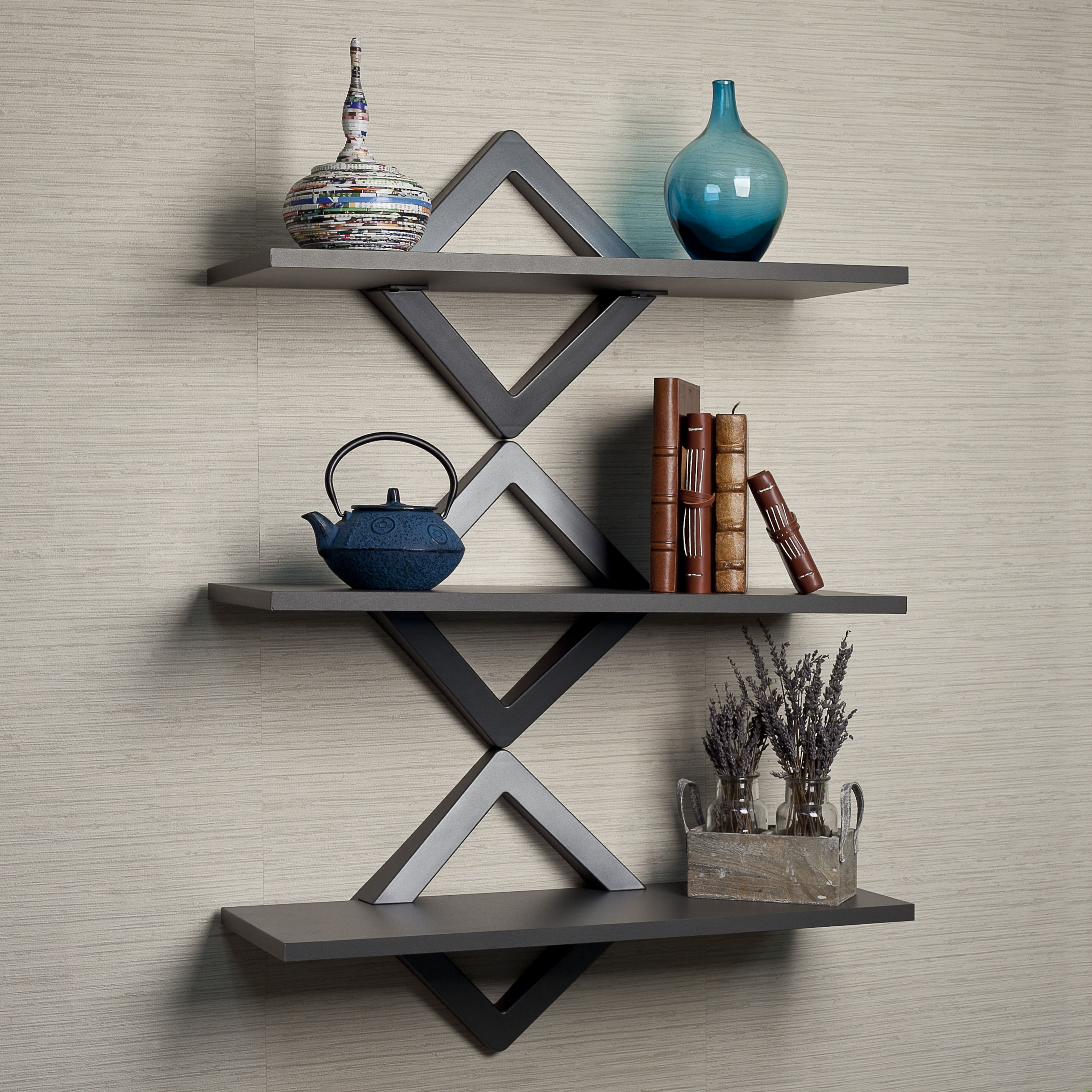 Danya b diamonds 3 level wall shelf home decor pinterest danya b diamonds 3 level wall shelf amipublicfo Images