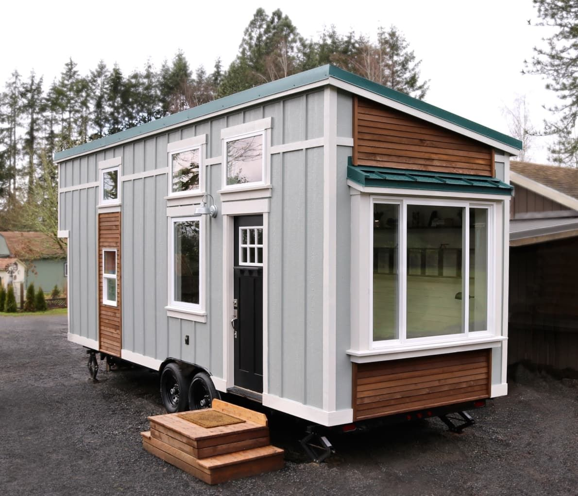 this charming tiny farmhouse on wheels is only 72k outdoor kitchen design patio kitchen on outdoor kitchen on wheels id=91213