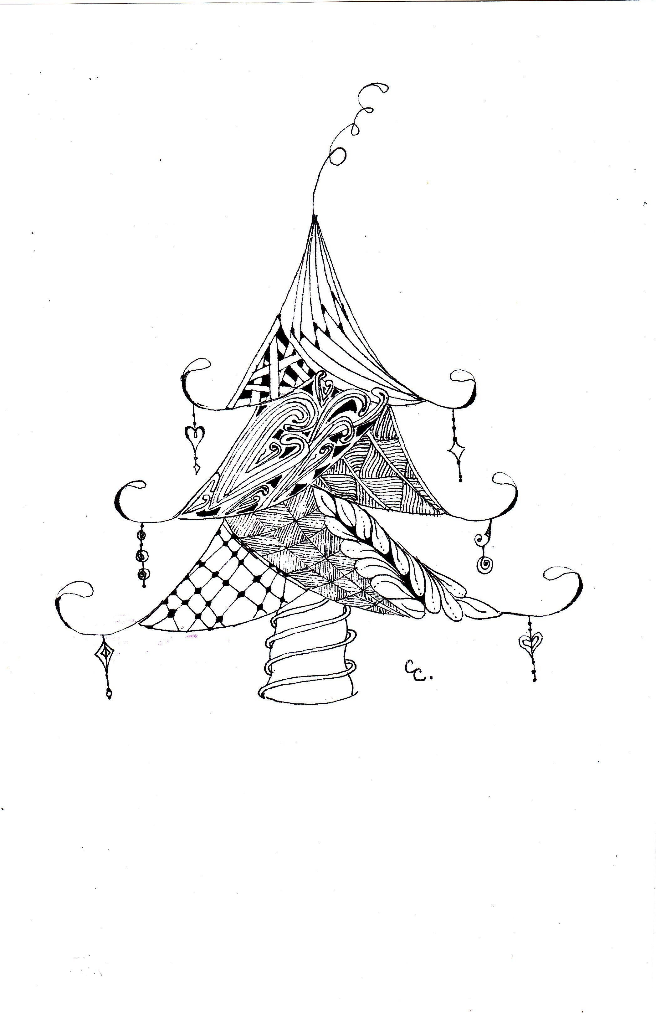 cute Christmas tree | Weihnachten | Pinterest | Navidad, Páginas ...