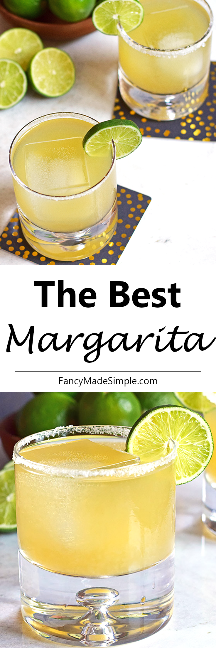The best margarita recipe. This light and refreshing drink is perfect for a hot summer night. Enjoy one of these at your next party! #margarita #best #recipe #cocktail #drink #recipe #lime #tequila #cointreau #agave #partyideas