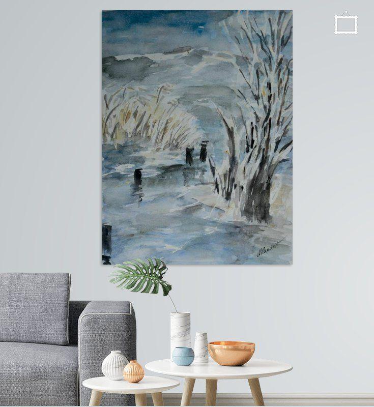 Winter Am See Poster Christine Nöhmeier Ohmyprints