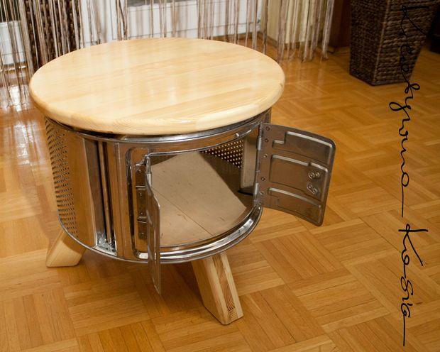 stolik z b bna od pralki waschmaschine trommel in 2018 pinterest waschmaschinen trommel. Black Bedroom Furniture Sets. Home Design Ideas