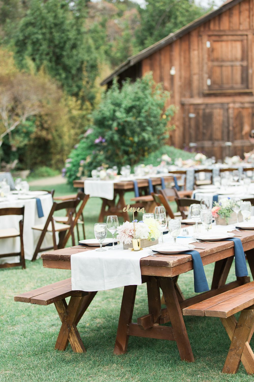 There's So Much in this California Garden Wedding We Want To Share! is part of garden Seating Picnic Tables - Seriously, narrowing down images to show off for you was really difficult at this wedding  Check it out here and see even more in the full gallery!