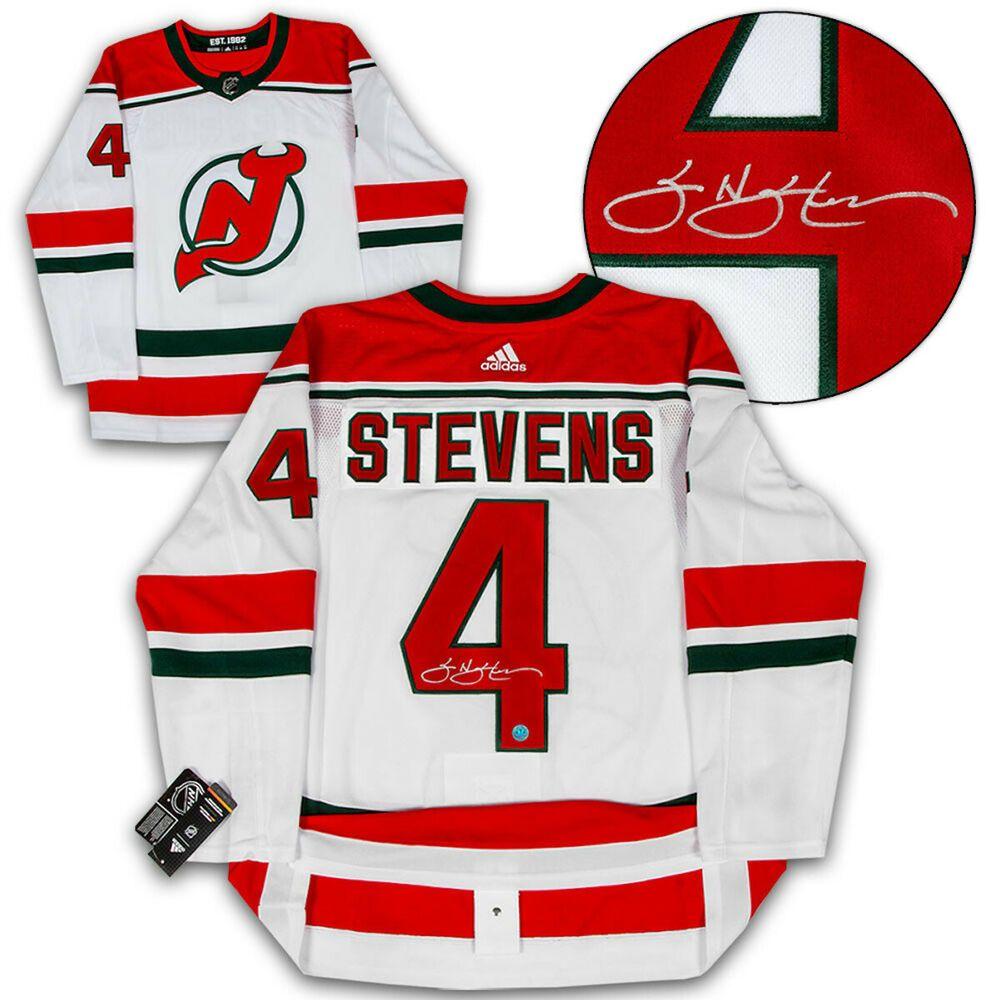 Scott Stevens New Jersey Devils Autographed Retro Adidas