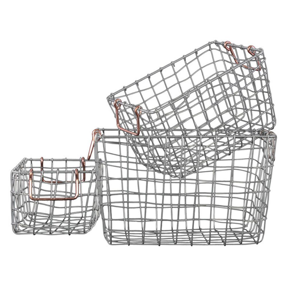 76 Urban Trends Metal Nesting Wire Basket with Handles - Set of 3 ...
