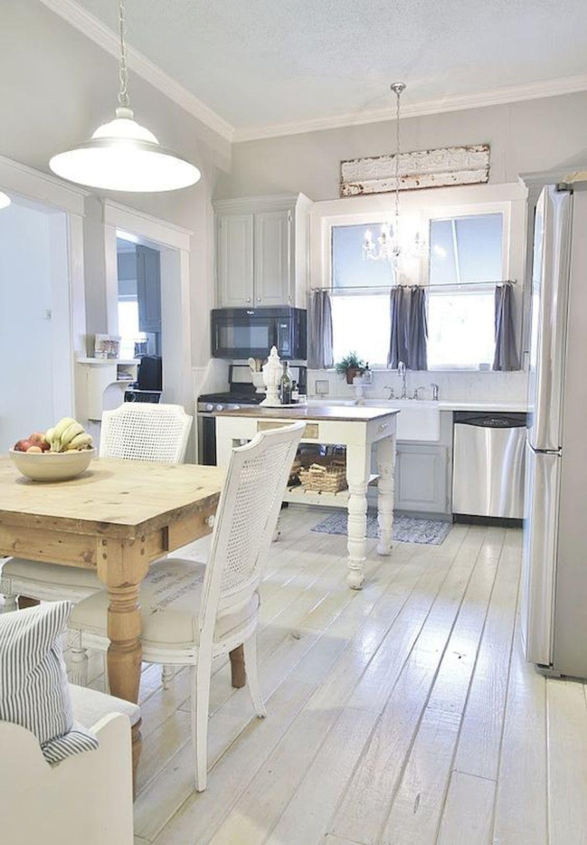 60 awesome farmhouse flooring design ideas and decor floor design white cottage kitchens on farmhouse kitchen flooring id=54187