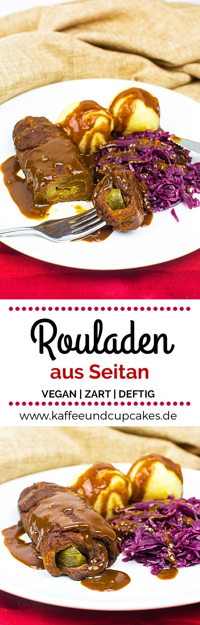 Zarte vegane Rouladen aus Seitan #finecooking
