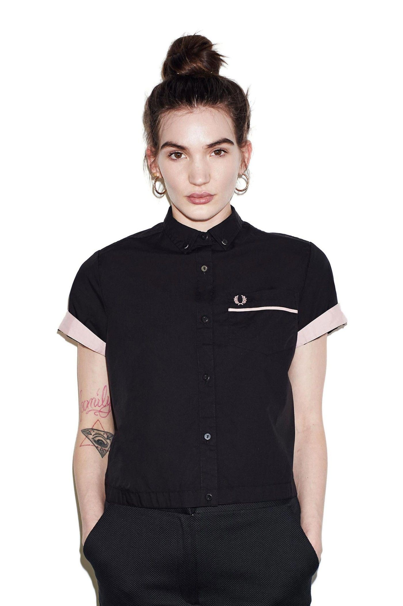 f747d218 Fred Perry - Amy Winehouse Bowling Shirt Black | My Style | Bowling ...
