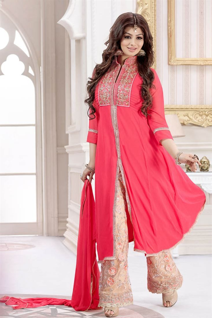 Online Shopping of Ayesha Takia Long Length Georgette Palazzo Suit ...