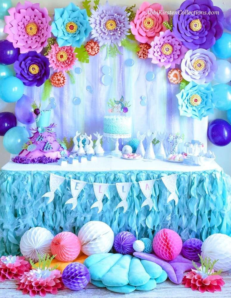Mermaid Under the Sea Party Birthday Party Ideas Photo 9