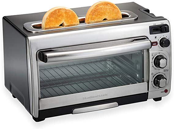 Amazon Com Hamilton Beach 2 In 1 Countertop Oven And Long Slot