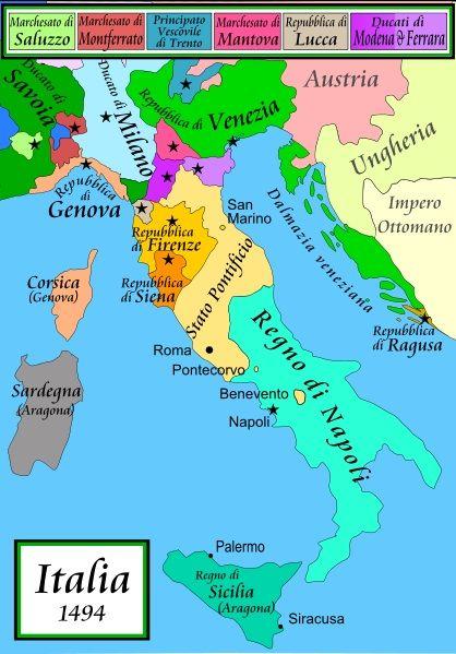 Cartina Italia 1500.Italia 1494 Mappa Dell Italia Mappe Antiche Mappe
