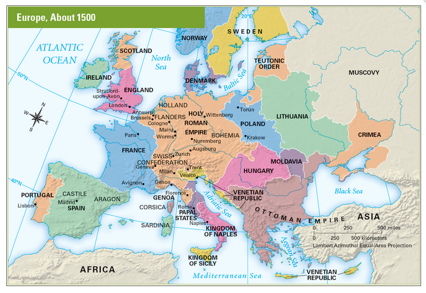 Europe about 1500 Homeschool Geography Pinterest