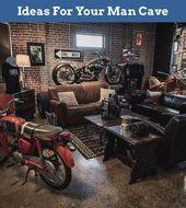 Man caves Ideen #ManCaveSociety Mancave Ideas Basement #ManCaveSociety #mancavegarage