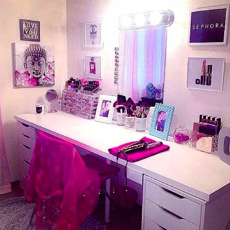 My dream beauty room planner for 2018 and makeup collection images