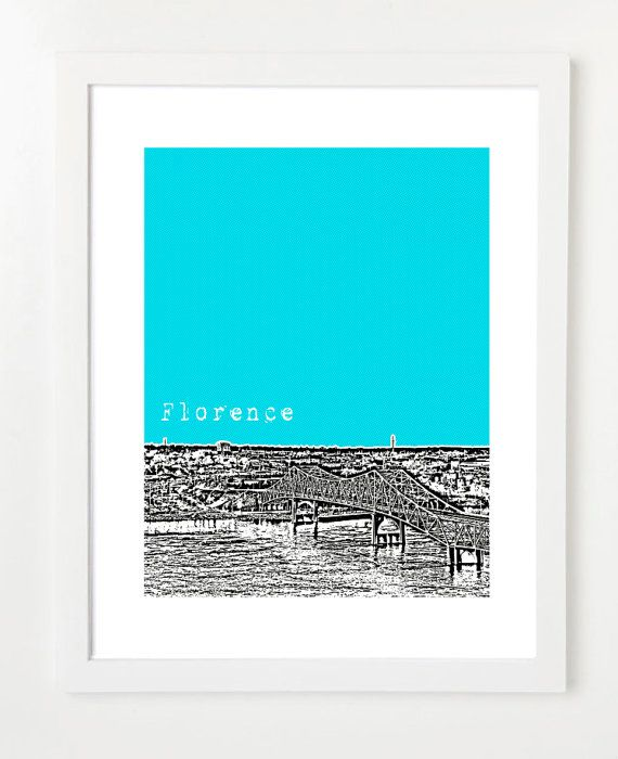 Hey, I found this really awesome Etsy listing at https://www.etsy.com/listing/105586126/florence-alabama-skyline-poster-city-art