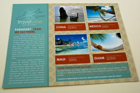 Travel Agency Flyer Template This Classic Clean Design Features