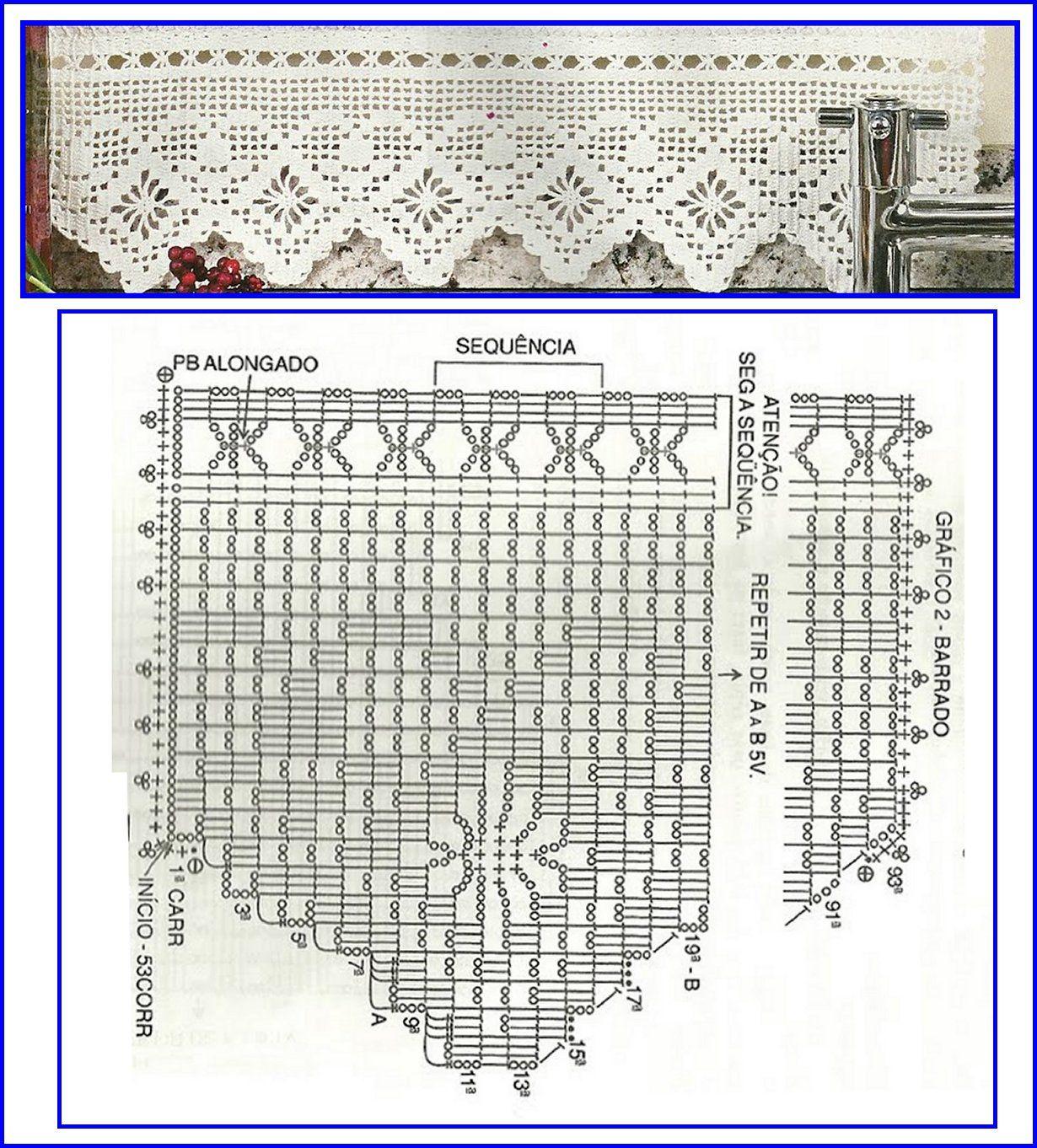 Ganchillo vertical Filet crochet | Hilos y lana | Pinterest | Filete ...