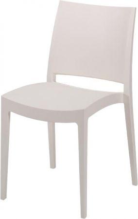 Gastro Stuhl Temmy Weiss Aus Polypropylen Kunststoff Kunststoffstuhle Stuhle Gastronomie Mobel