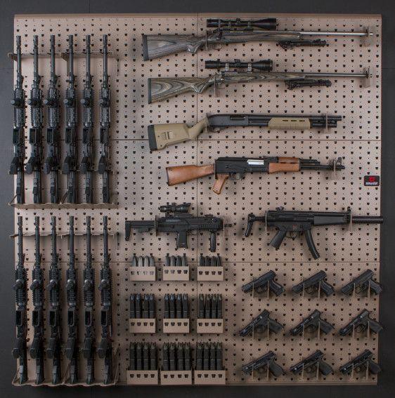 Wall mounted gun racks and storage system … | GUNS! | Guns,…