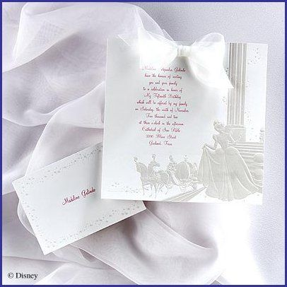 cinderella wedding invitations a little fancy is her style a
