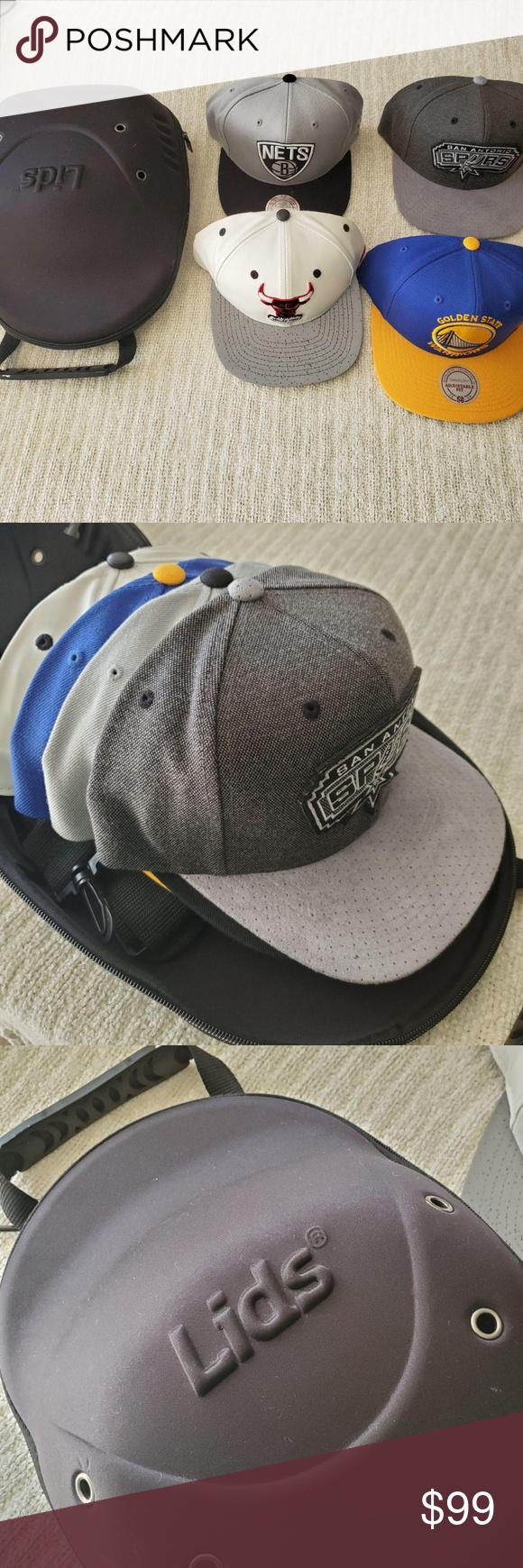 Lids Baseball Cap Carrier Black Case 4 Hats Black Case Branding Shop Baseball Cap