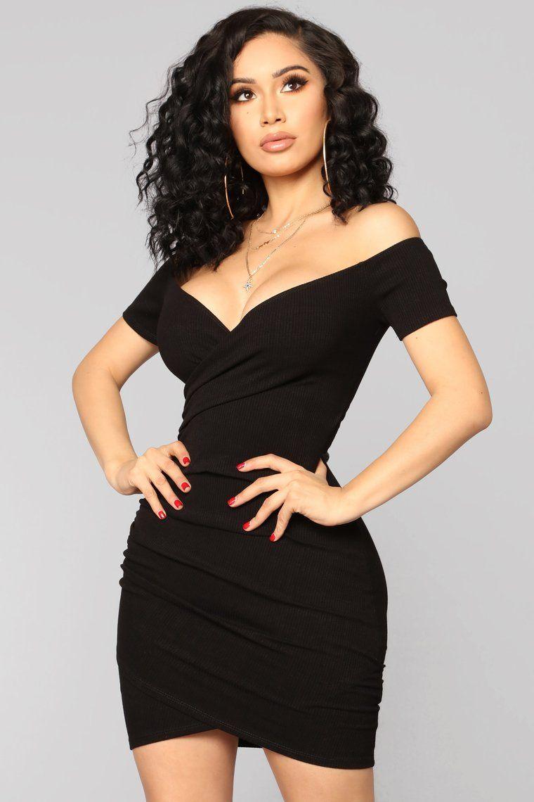 The Night We Met Dress Black Black short dress, Tight