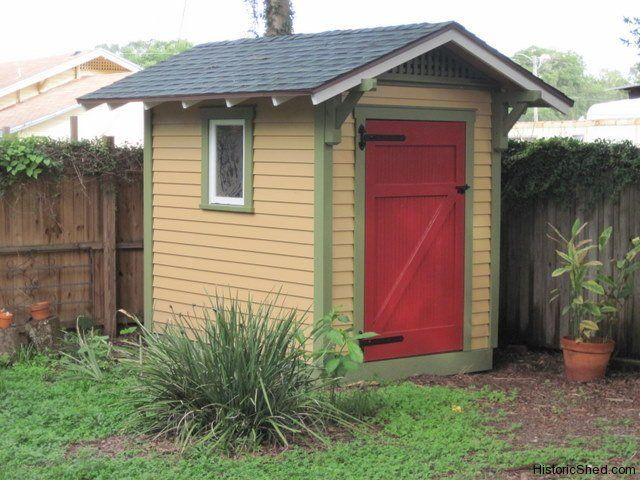 6x8 gable storage garden shed w single door to complement a historic - Garden Sheds Florida