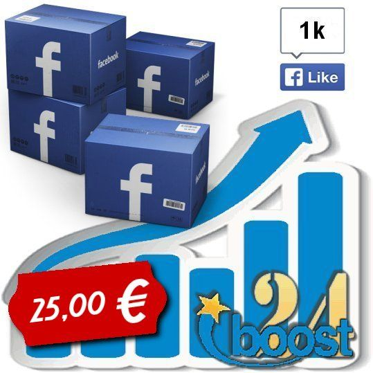 Buy 1000 Facebook Likes for only 25€ at Boost24.info