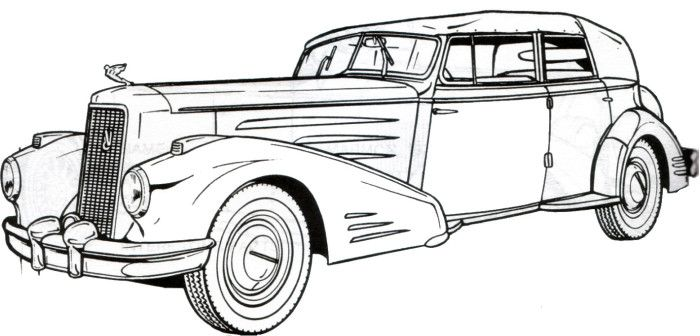 printable coloring pages of cadillac - photo#22