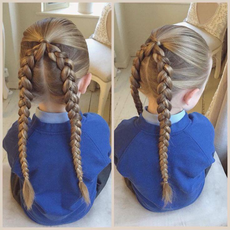twin french braid variation #braids
