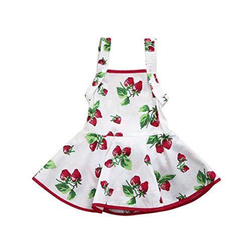 9561014e9 G-real Toddler Infant Baby Girl Strap Strawberry Print Cute Ruched ...