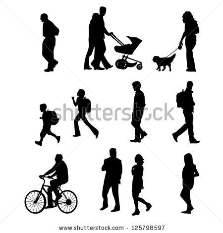 People Walking By Rosa Puchalt Via Shutterstock Com Imagens