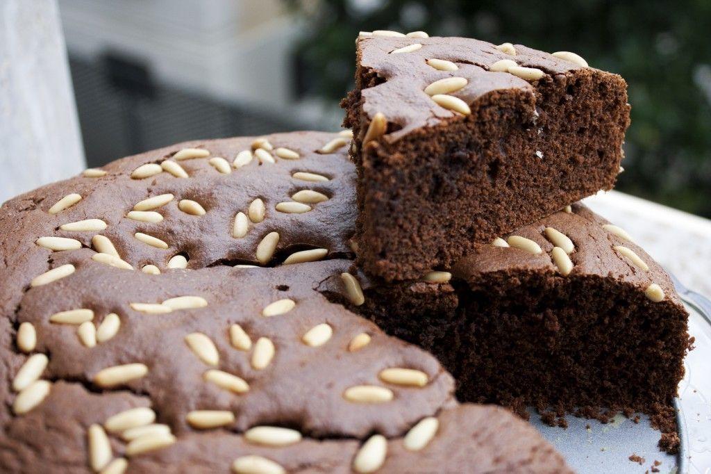 Torta ricotta cioccolato e pinoli gluten free