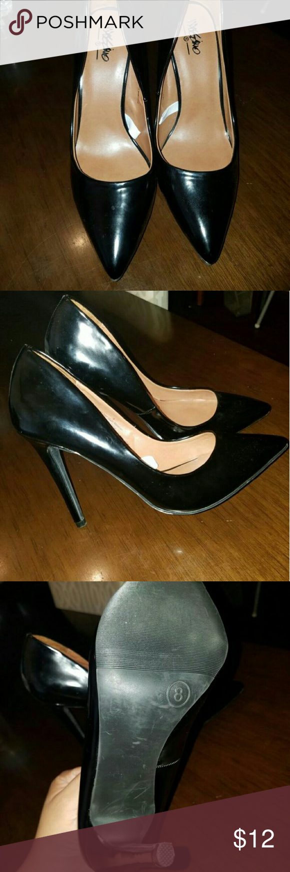 Mossimo heels Black sexy pointy heels. Great condition. Mossimo Supply Co Shoes Heels