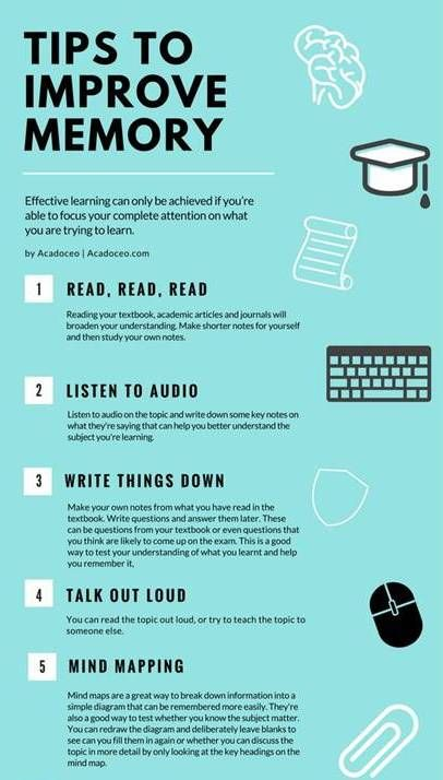 Tips To Improve Memory Beinvertian How To Focus Better School Study Tips Study Tips
