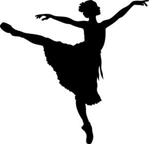 ballerina clipart image a silhouetted ballerina stretching her arms rh pinterest com Jazz Dancer Clip Art Spanish Dancers Clip Art